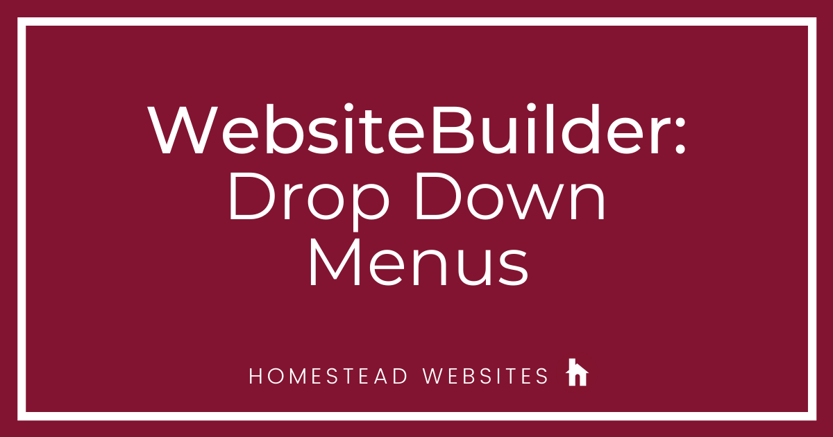 WebsiteBuilder: Drop Down Menus