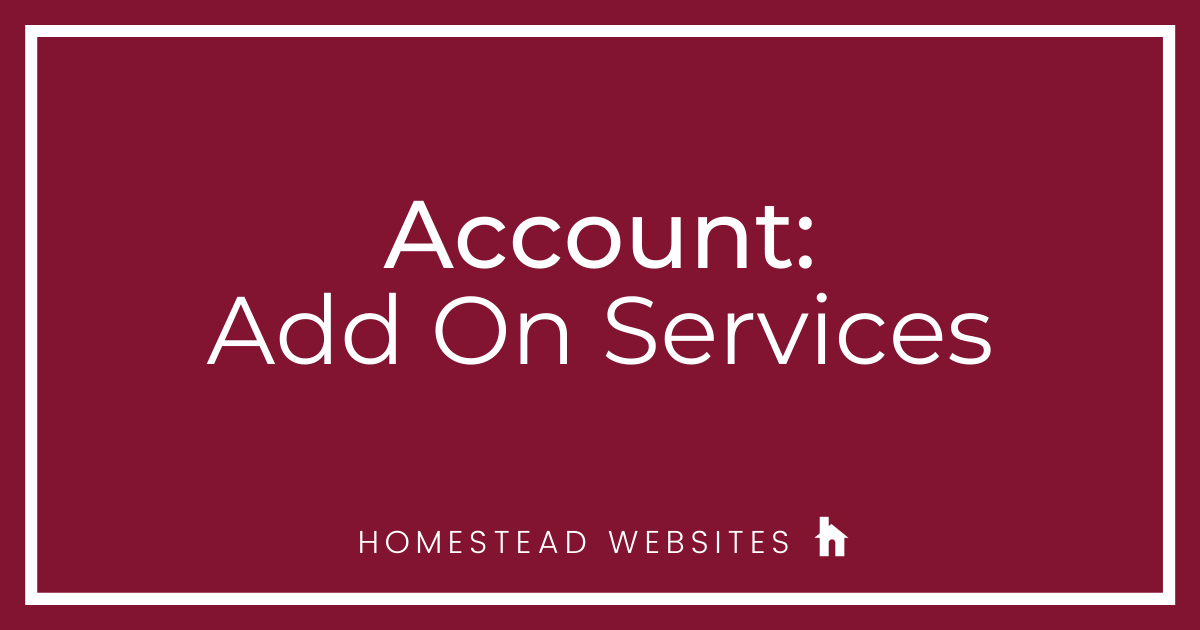 Account: Add On Services