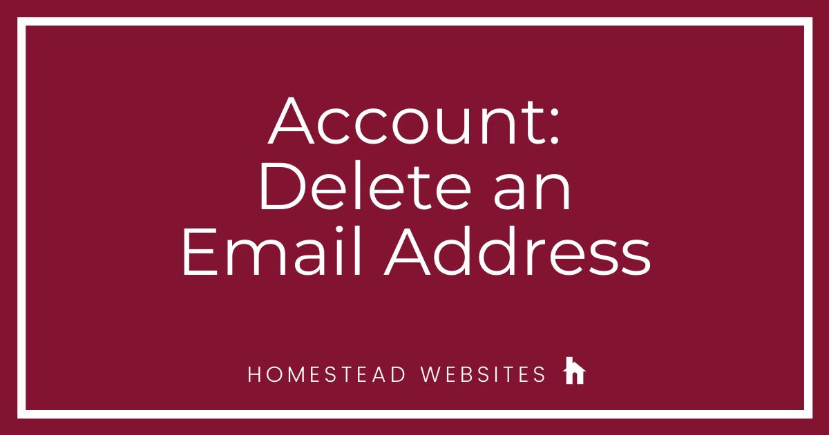 Account: Delete an Email Address