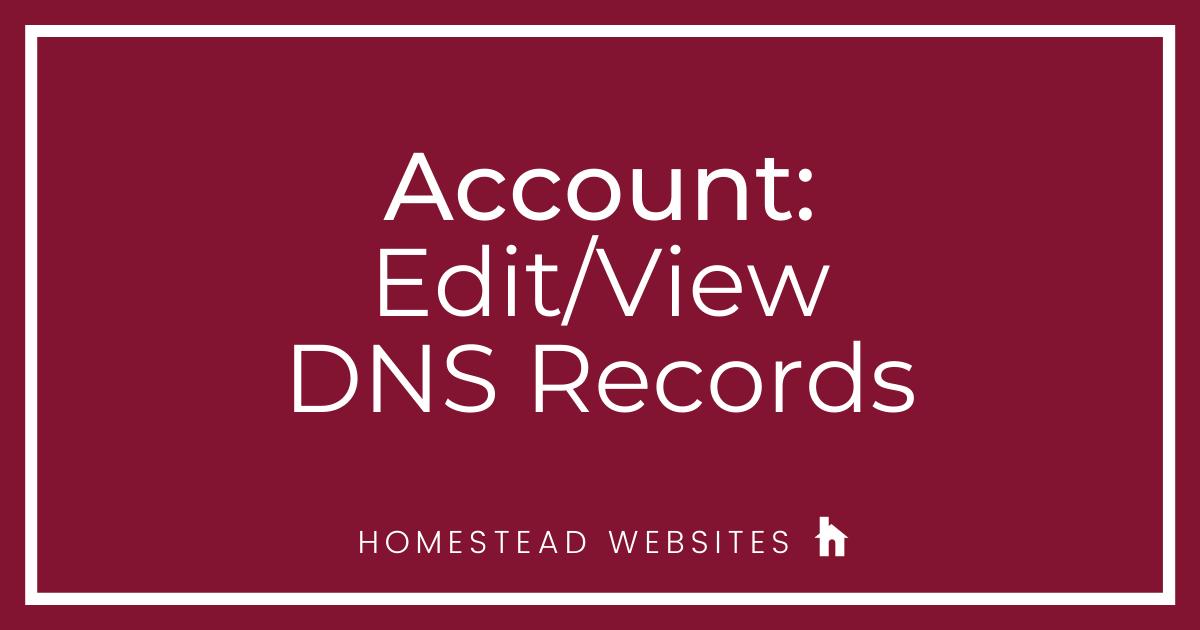 Account: Edit/View DNS Records