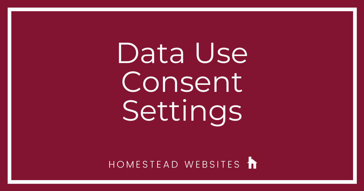 Data Use Consent Settings
