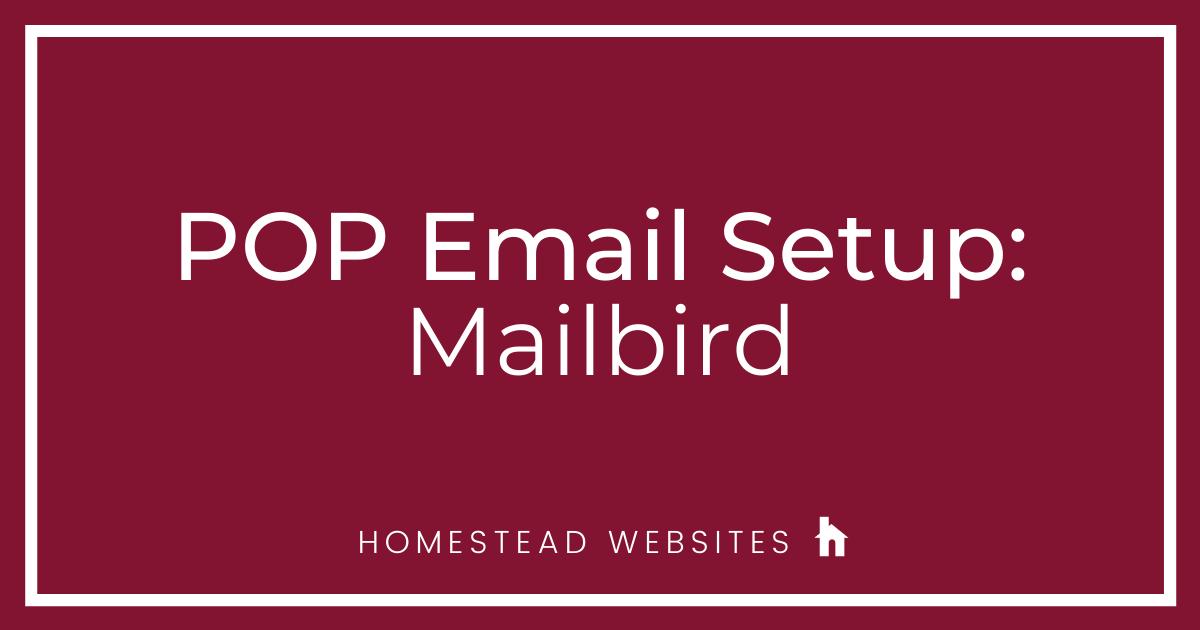 POP Email Setup: Mailbird