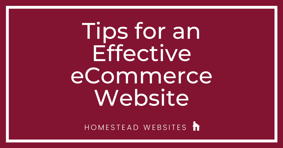 Tips for An Effective eCommerce Website