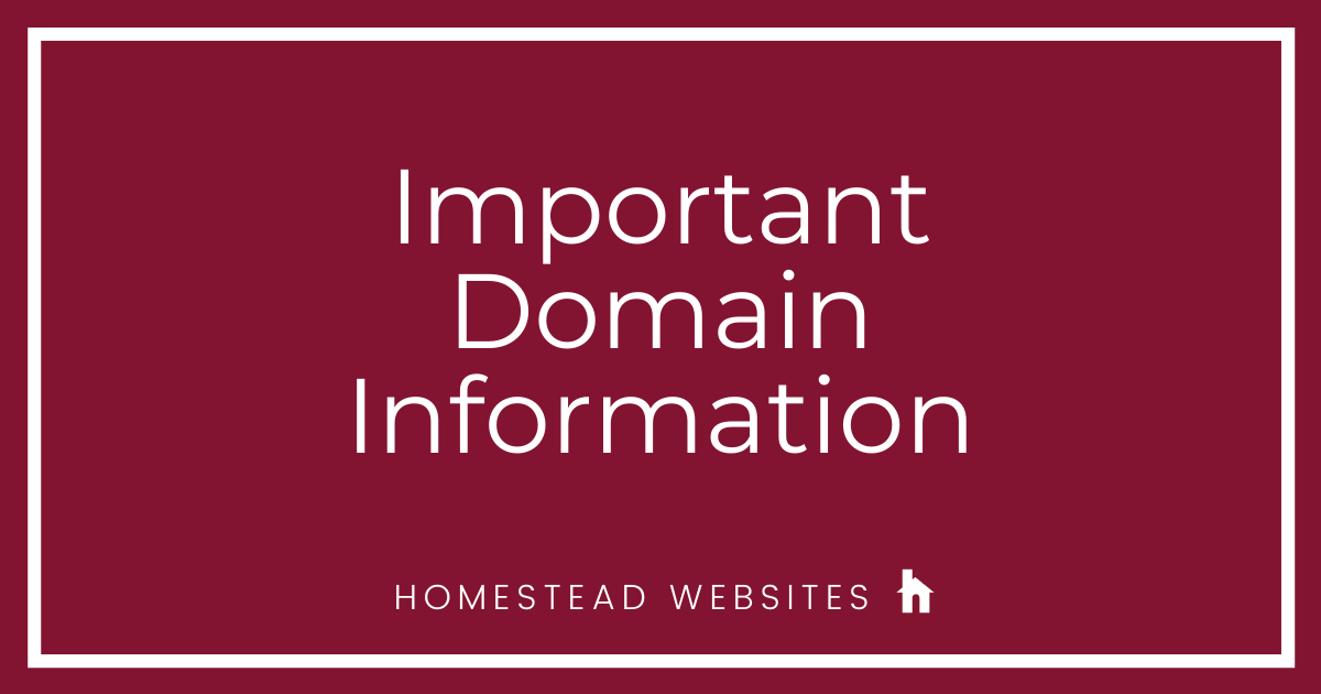 Important Domain Information