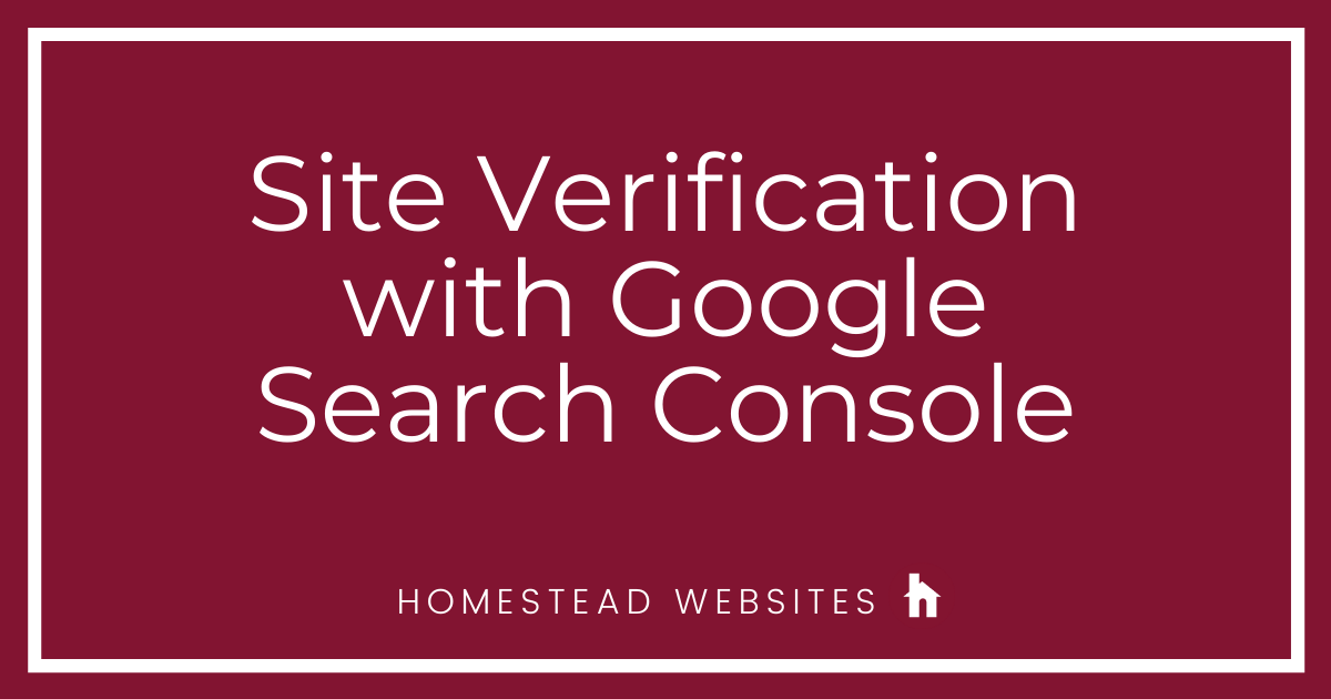 Site Verification with Google Search Console