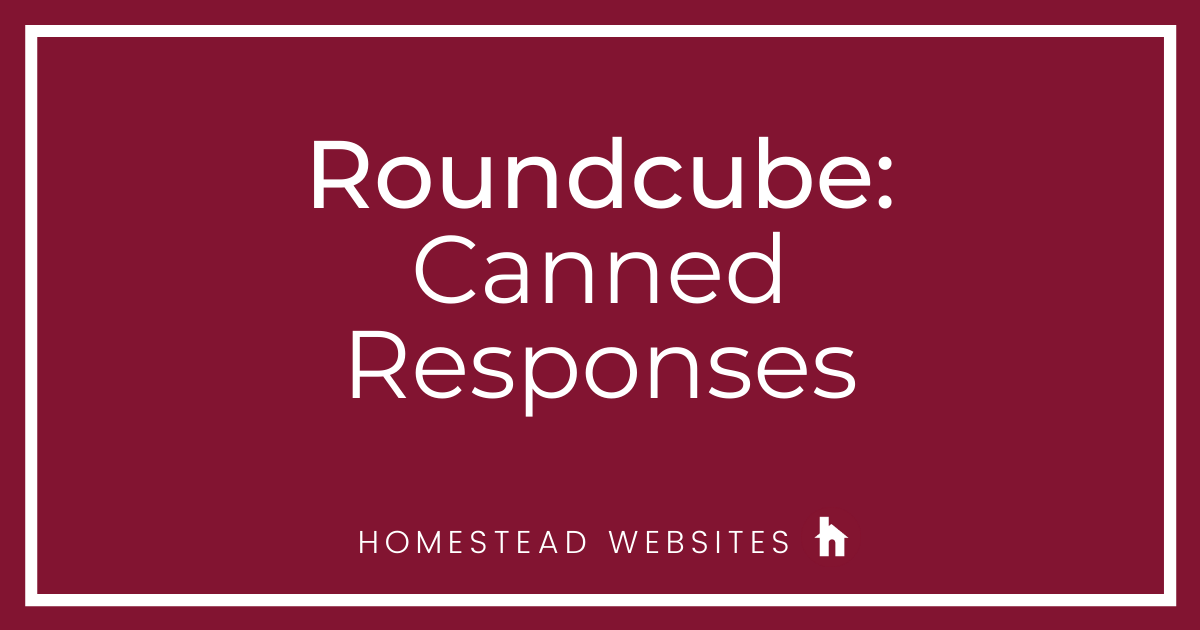 Roundcube: Canned Responses