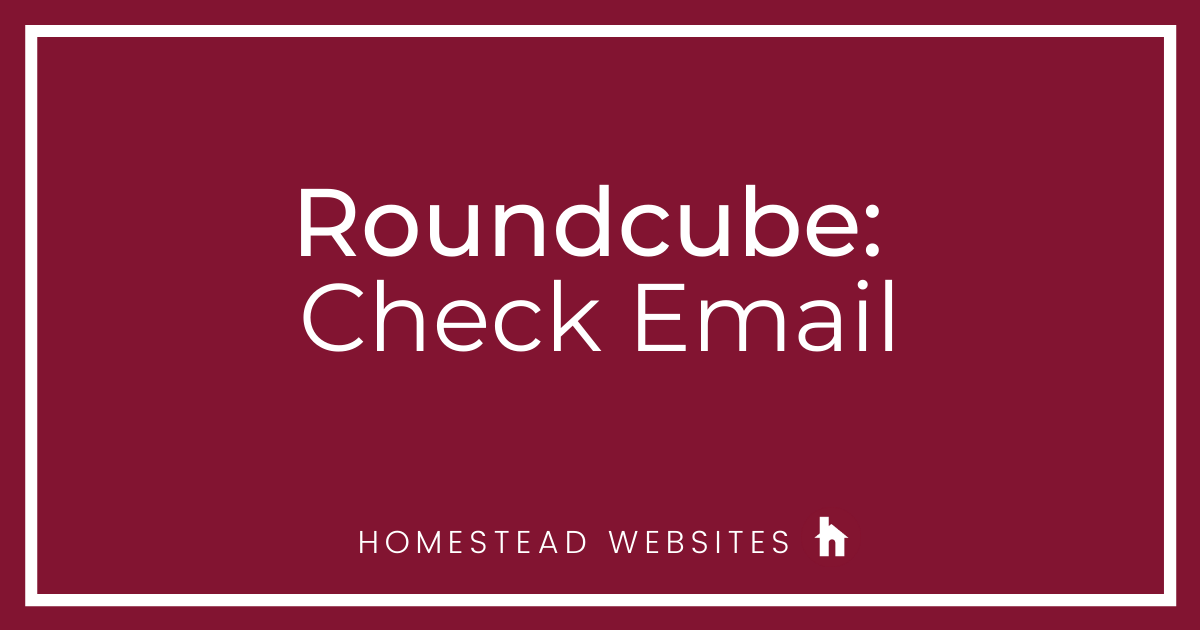 Roundcube: Check Email
