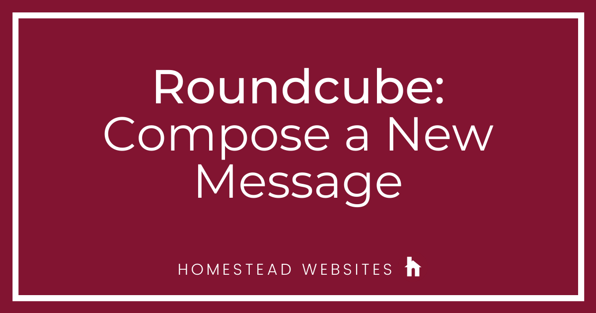Roundcube: Compose A New Message
