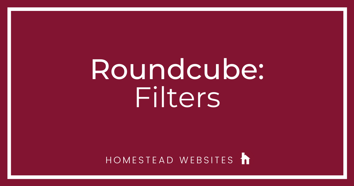Roundcube: Filters
