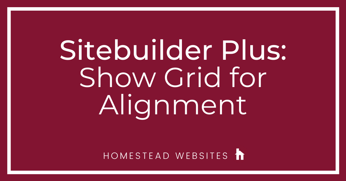 Sitebuilder Plus: Show Grid for Alignment