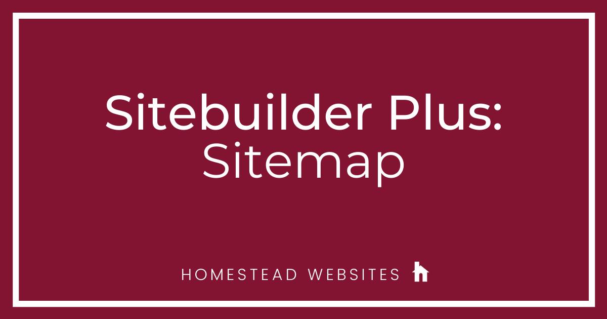 Sitebuilder Plus: Sitemap