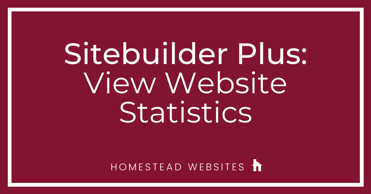 Sitebuilder Plus: View Website Statistics