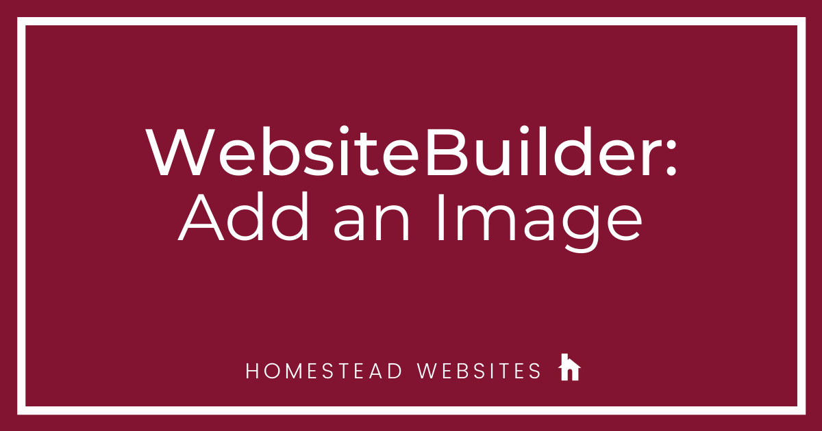 WebsiteBuilder: Add an Image