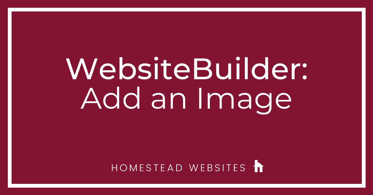 WebsiteBuilder: Add an Image