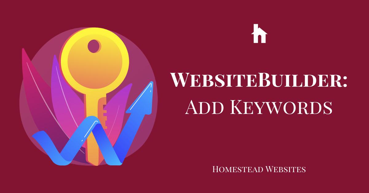 WebsiteBuilder: Add Keywords