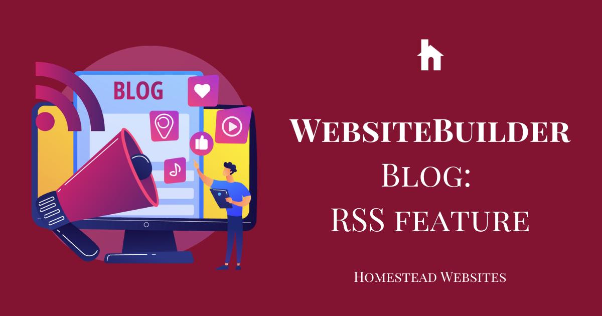 WebsiteBuilder Blog: RSS feature