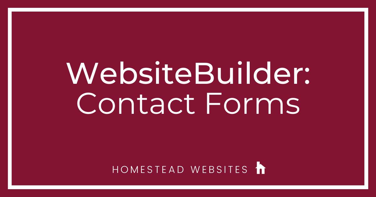 WebsiteBuilder: Contact Forms