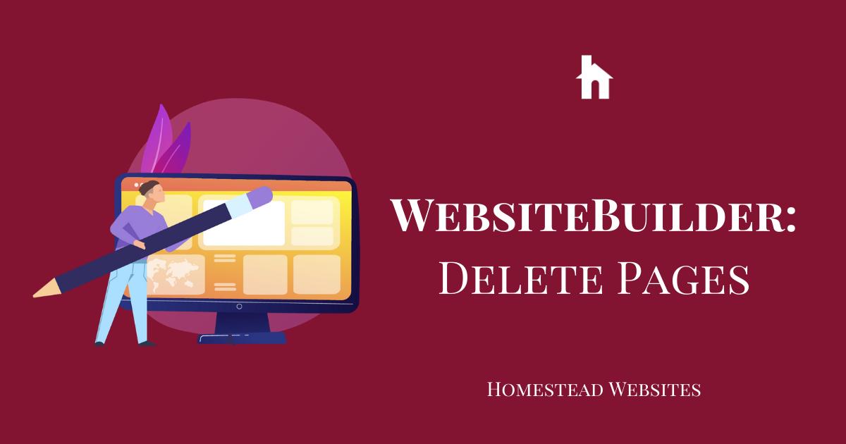 WebsiteBuilder: Delete Pages