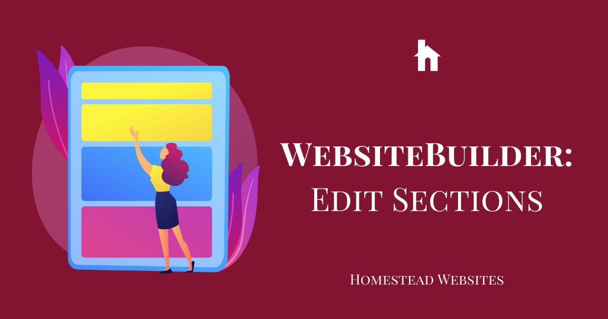 WebsiteBuilder: Edit Sections