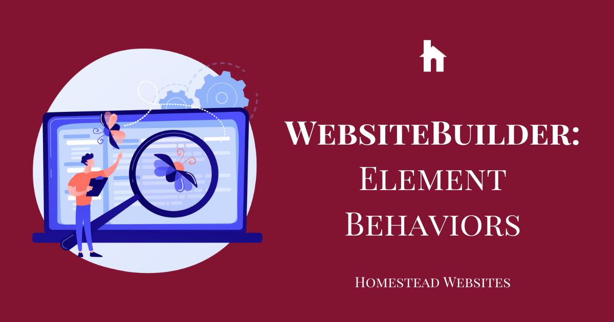 WebsiteBuilder: Element Behaviors