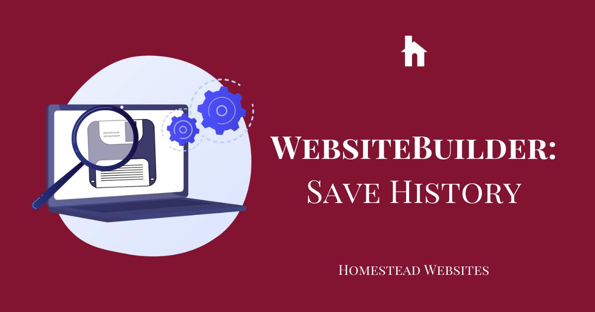 WebsiteBuilder: Save History