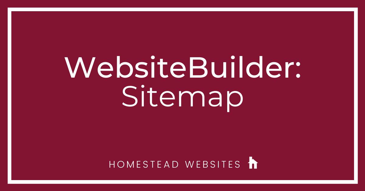 WebsiteBuilder: Sitemap