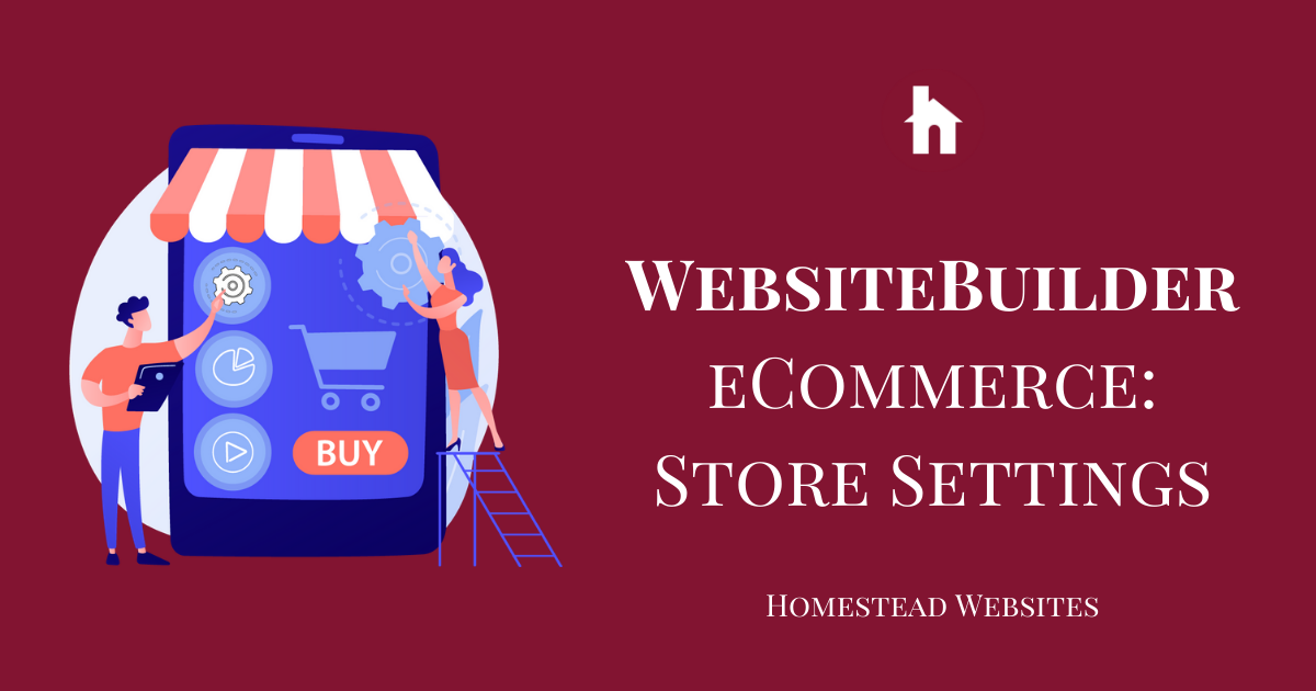 WebsiteBuilder eCommerce: Store Settings