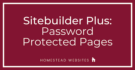 Sitebuilder Plus: Password Protected Pages
