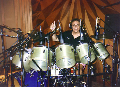 Blaine recording at the Record Plant in 1995
