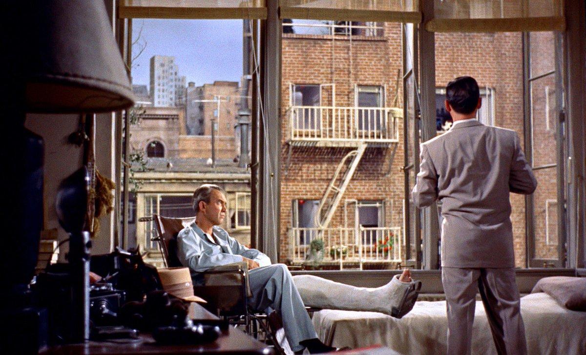 James Stewart and Wendell Corey in Rear Window 1954
