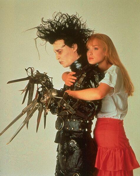 Johnny Depp and Winona Ryder star in Edward Scissorhands