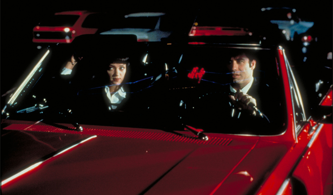 Uma Thurman and John Travolta in Pulp Fiction 1994
