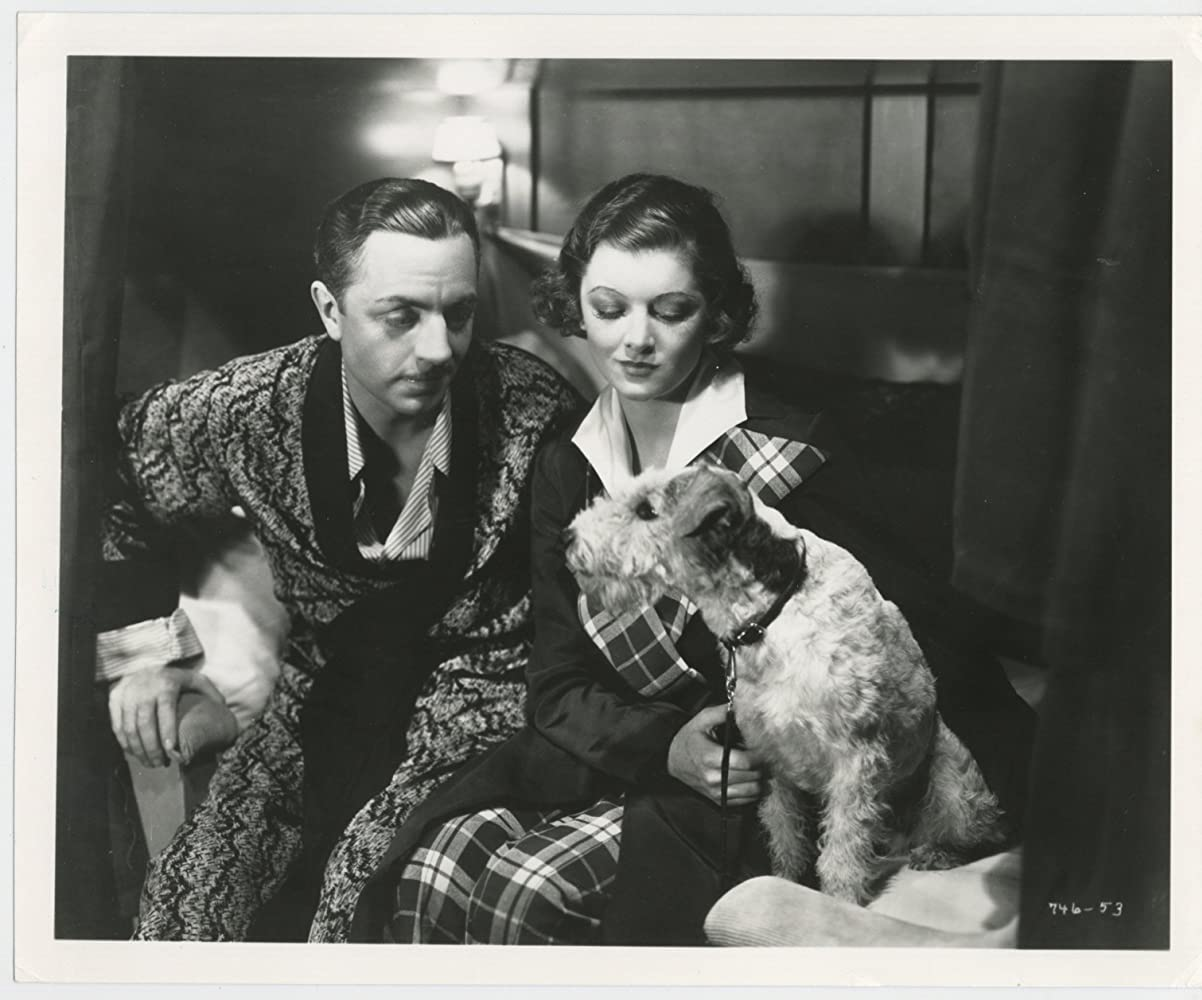Myrna Loy William Powell and Asta in The Thin Man 1934