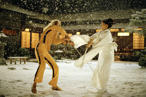 Uma Thurman and Lucy Liu in Kill Bill Vol 1 2003