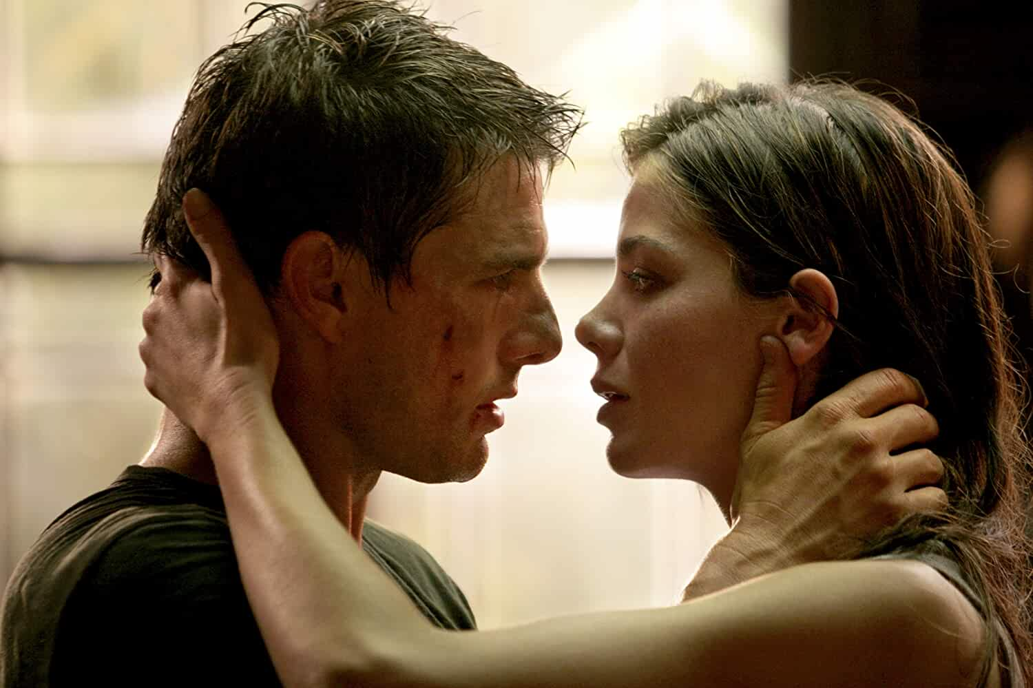 Tom Cruise and Michelle Monaghan in Mission Impossible III 2006
