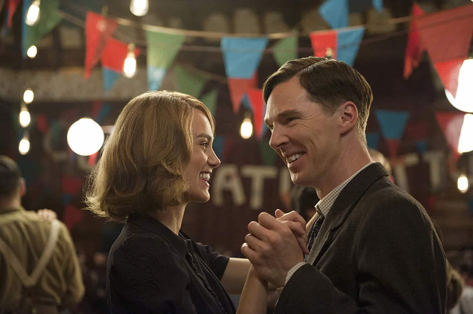 Keira Knightley and Benedict Cumberbatch in The Imitation Game 2014