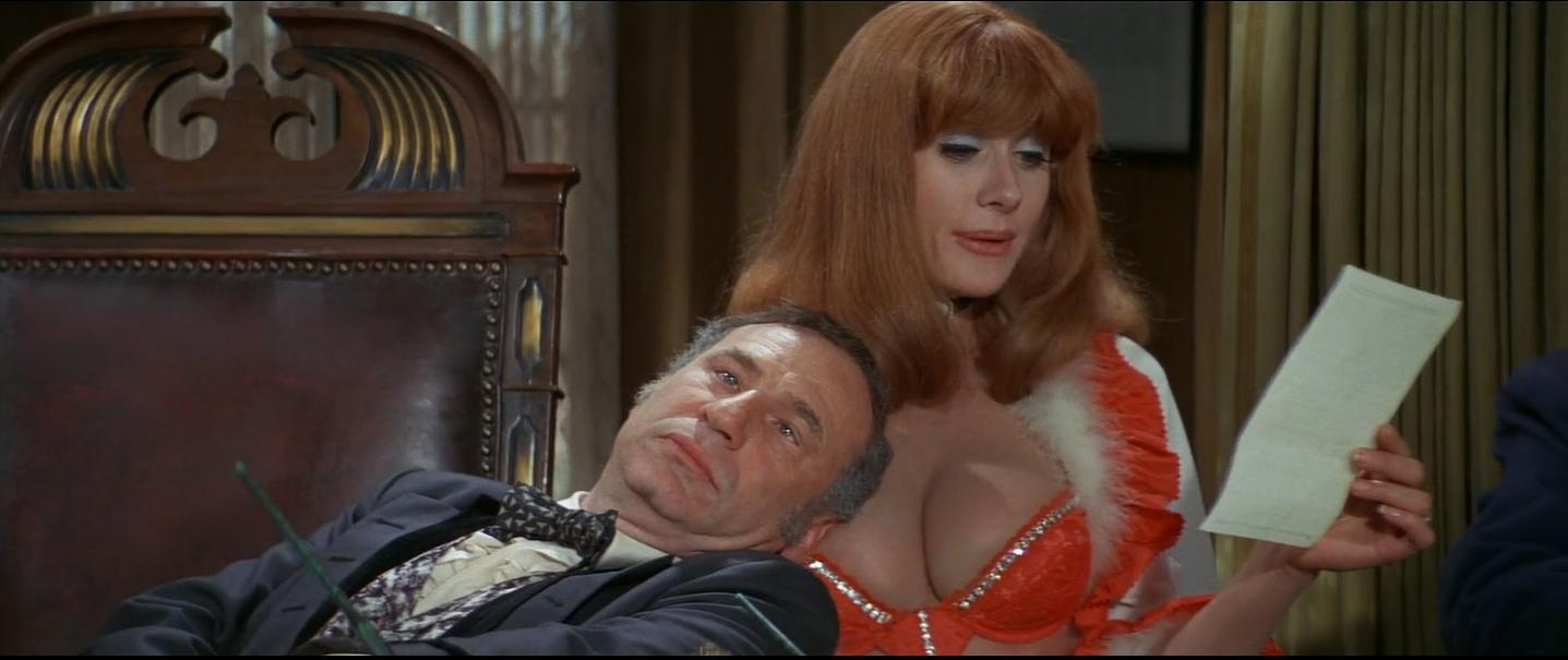 Mel Brooks and Robyn Hilton in Blazing Saddles 1974