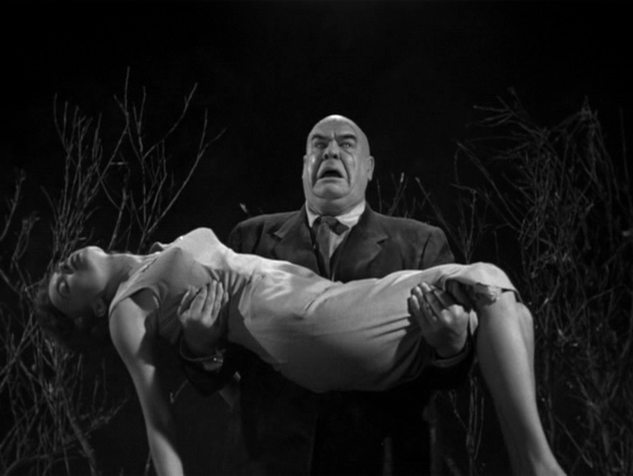 Tor Johnson and Mona McKinnon in Plan 9 from Outer Space 1959