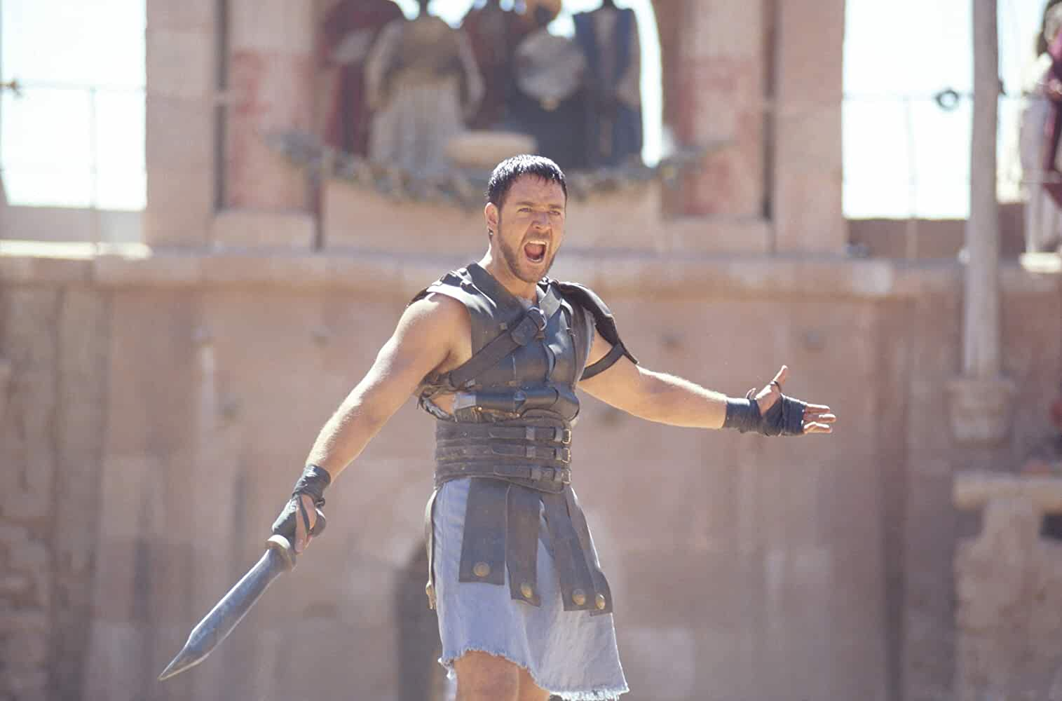 Russell Crowe in Gladiator 2000