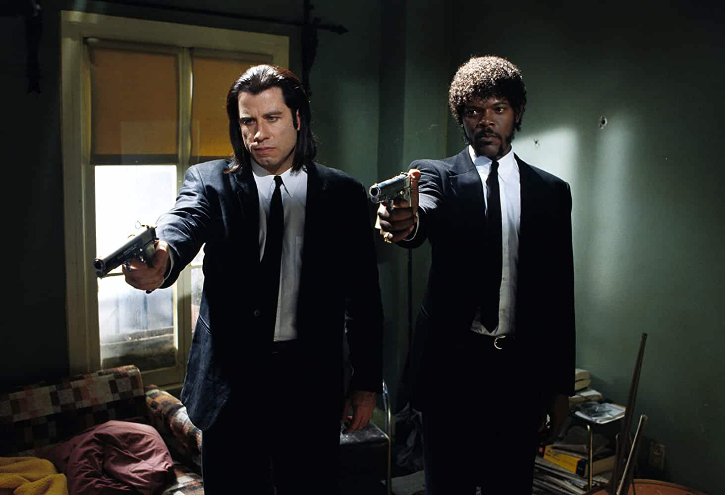 Samuel L Jackson and John Travolta in Pulp Fiction 1994