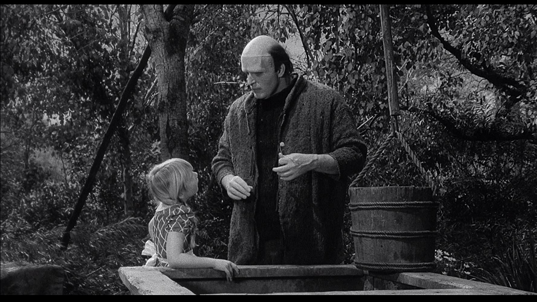 Peter Boyle and Anne Beesley in Young Frankenstein 1974