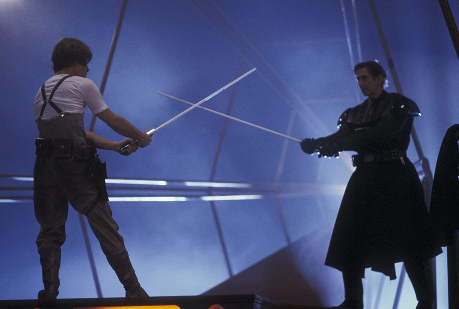 Mark Hamill and Bob Anderson in Star Wars Episode V - The Empire Strikes Back 1980