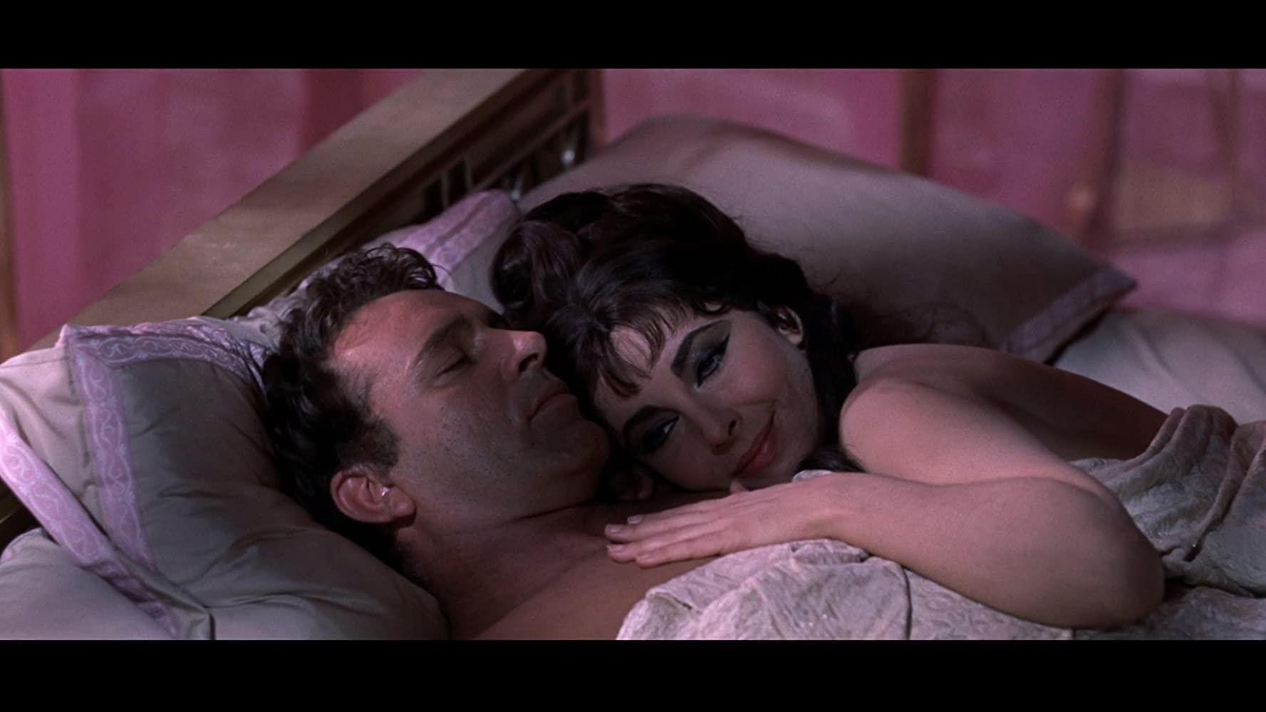 Richard Burton and Elizabeth Taylor in Cleopatra 1963
