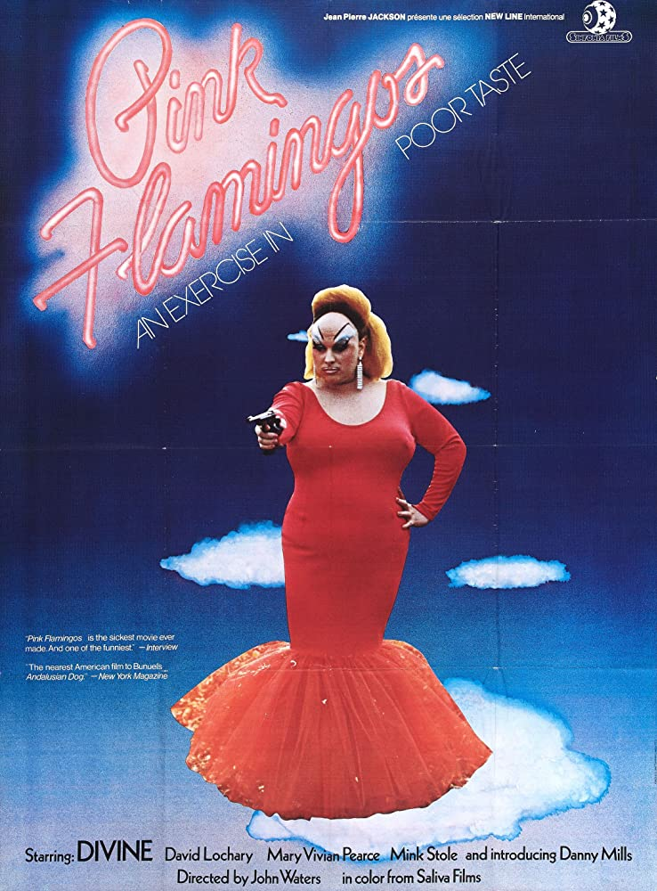 Divine in Pink Flamingos 1972