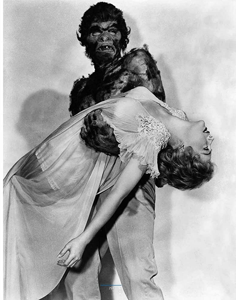 Joanna Moore and Eddie Parker in Monster on the Campus 1958