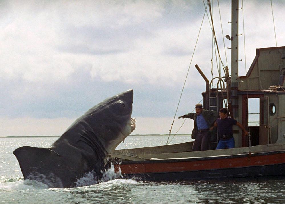 Roy Scheider and Robert Shaw in Jaws 1975