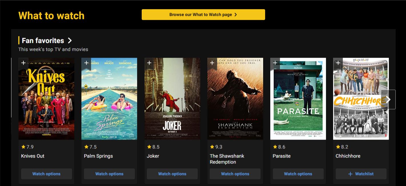 INTRODUCING: The IMDb What to Watch page