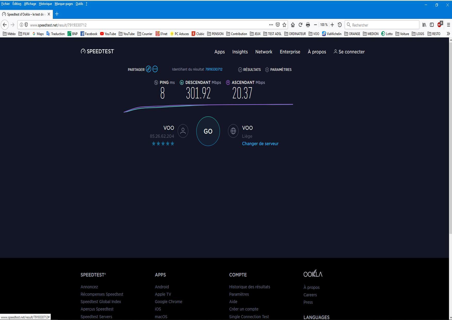 Instabilité de la vitesse internet malgré les 400 Mbps ...