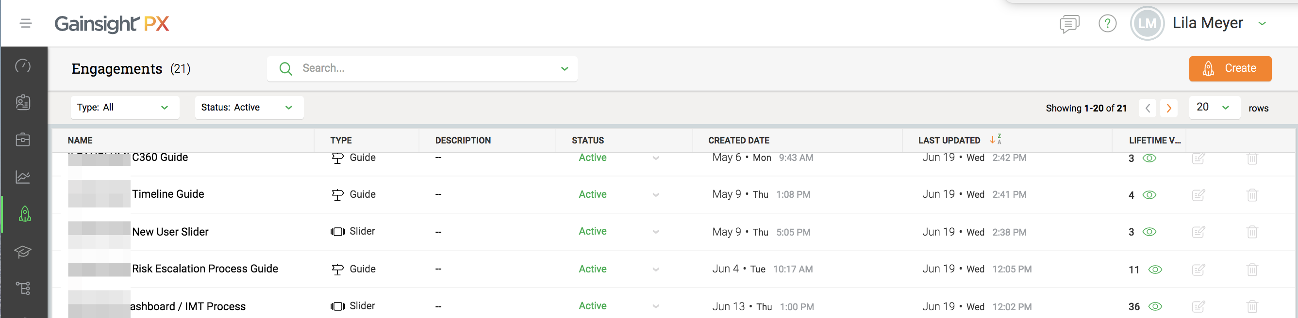 PX: Add Location or Page to Engagements List View | Gainsight Community