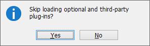 Skip loading dialog box
